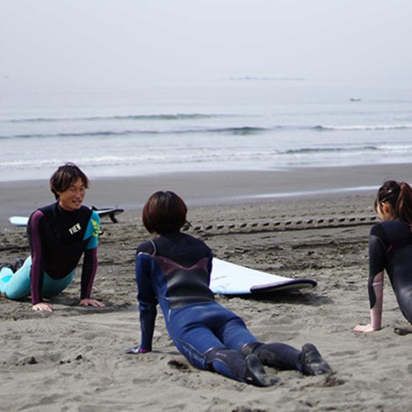 初心者サーフィンスクール「レベル1」(初回の方、2回目以降の方もこちらから、通年受付しております。)