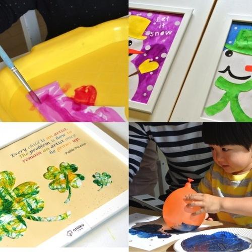 [2歳] 飾れる作品を造ろう!Babyアート☆Spring(春) 4月