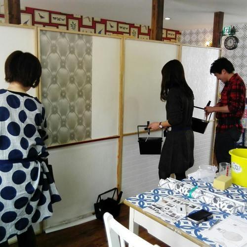 輸入壁紙の貼り方体験ワークショップ