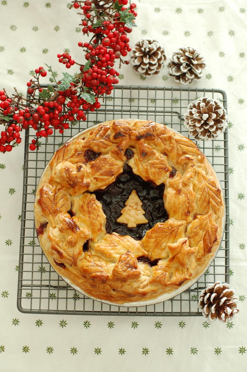 12月のお菓子教室「クリスマスチェリーパイ」