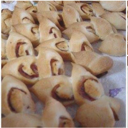 木のキッチンでパン教室 パン2種「ベーコンエピ」「クルミパン」+お菓子「オートミールとごまのクッキー」とミニサラダ