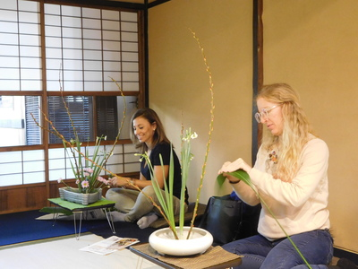 Ikebana Experience in Kyoto Townhouse