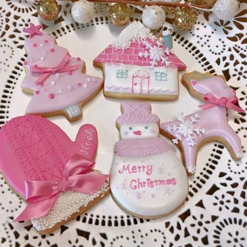 【お子様連れ限定日】1Dayレッスン『雪つもる、ピンクで彩るクリスマス♡クッキー』
