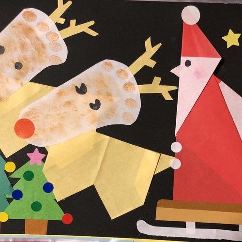 足型 &折り紙教室 【クリスマス】