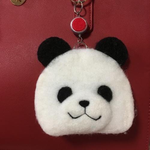 ワークショップ「パンダの顔のICカードケース」