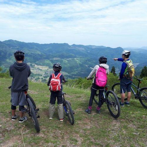 Downhill cycling to Wagyu hometown (w/o Tajima beef)