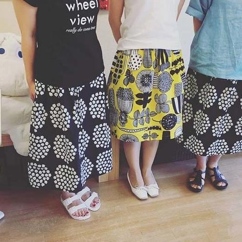 【8/26(日)開催】 マリメッコファブリックで作る スカート