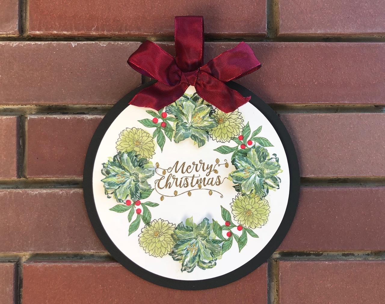 【スタンプテクニック】Green Merry Christmas 12月12日(水)