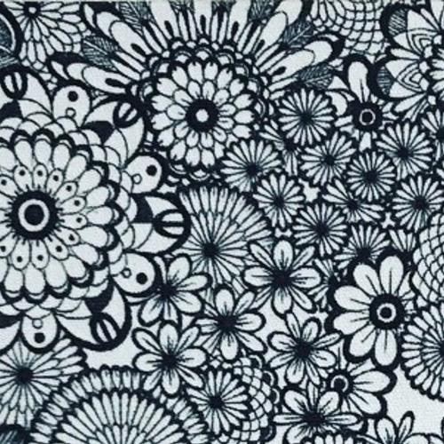 ボールペンアート「エコバッグor巾着に花文様を描こう」