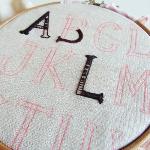 【オーダーメイドの日week2】a t s u m i「アルファベットの刺繍」