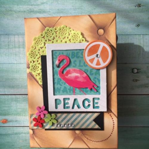 2016.2.4 tue ワークショップ【フラミンゴのミニアルバム~peace】