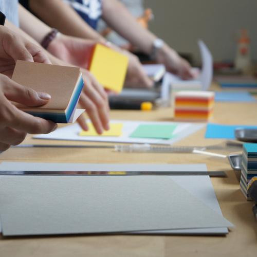 【紙博 in 京都】美篶堂+本づくり協会「ブロックメモで小さなハードカバーのノートを作ります」