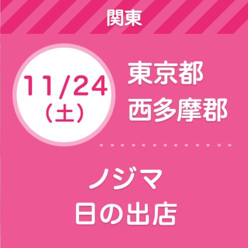 11/24(土) ノジマ 日の出店   【無料】親子撮影会&ライフプラン相談会