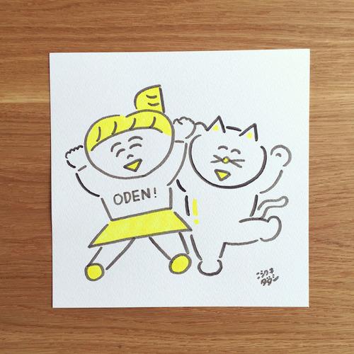 【第12回東京蚤の市】ニシワキタダシ「なにかしらと 似顔絵キャラクター描きます」
