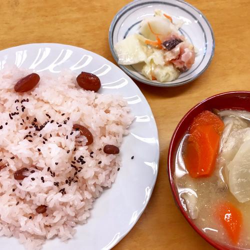 【郷土料理体験】鮭の切漬け・鮭のあら汁・甘納豆のお赤飯