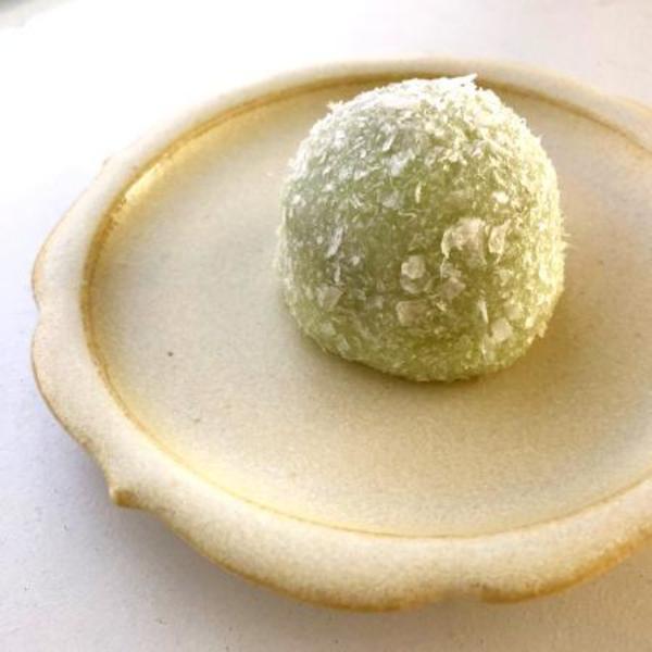 3月 茶席の和菓子:道明寺餅|Mar: domyoji