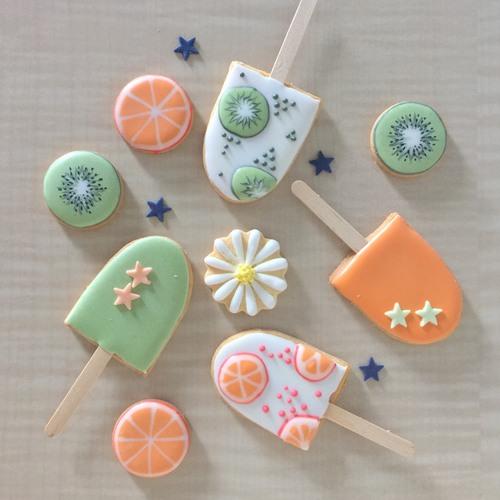 ママのアイシングクッキー教室♪7月『アイスキャンディーみたいなアイシングクッキー