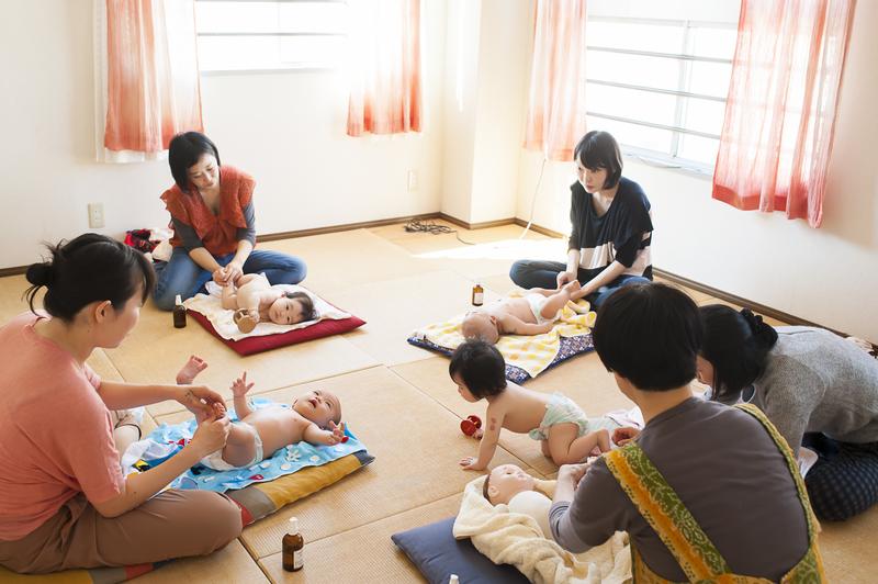 ベビーマッサージ虹クラス ~赤ちゃんと自分を整える手習いあれこれ~