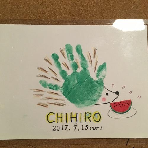 10月15日(日)手形*足形アートのワークショップ
