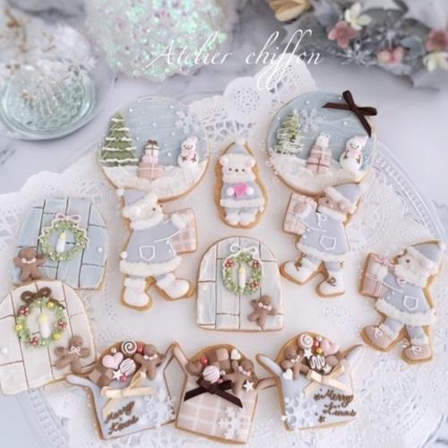 クリスマスアイシングクッキーレッスン 2018年12月
