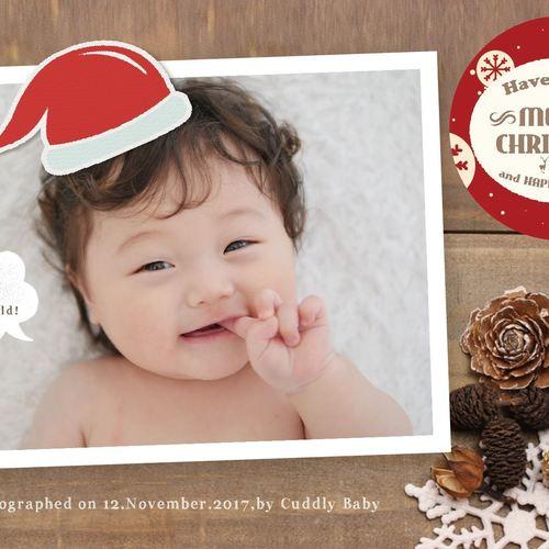 【終了】(期間限定)おうちスタジオオープン記念!ベビーフォト体験会! クリスマスカードデザイン画像付き