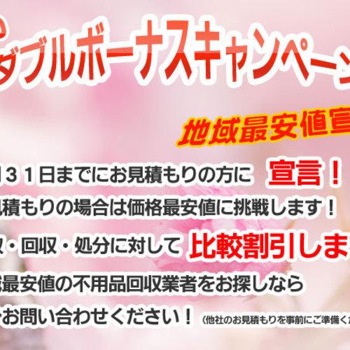 春のダブルボーナスキャンペーン!!