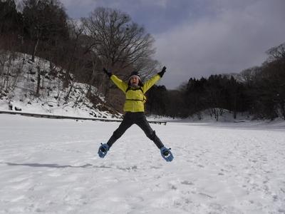 大沼スノートレッキング&エアボードツアー 1日間