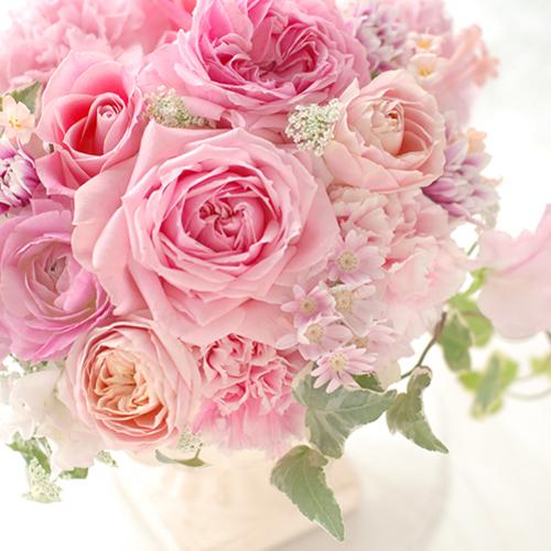 2019年4月 かそけき桜色 優しいピンクの花たち アレンジメント(フラワーギフト)orボールブーケ