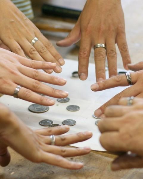 シルバーコインで指輪を作ろう