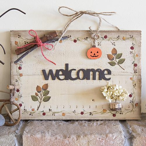 【9月】トールペイントで秋のウェルカムボードづくり