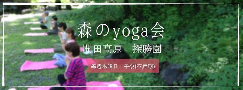 木曽開田高原)森のyoga会