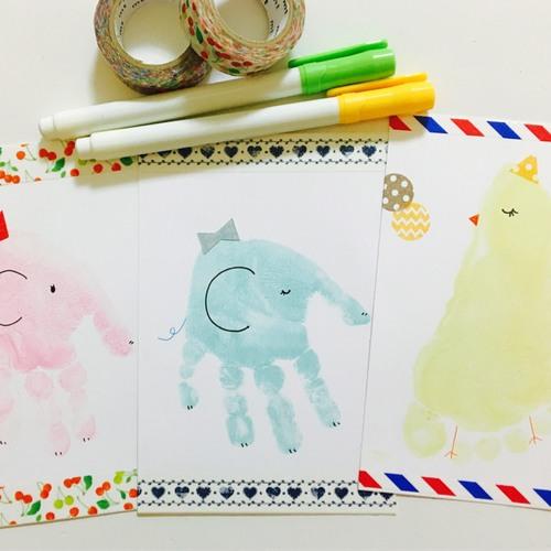 【生後2ヶ月〜小学生】手形足形アート体験