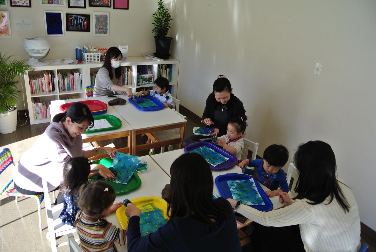 [2歳] 飾れる作品を造ろう!Babyアート☆Spring!(春)