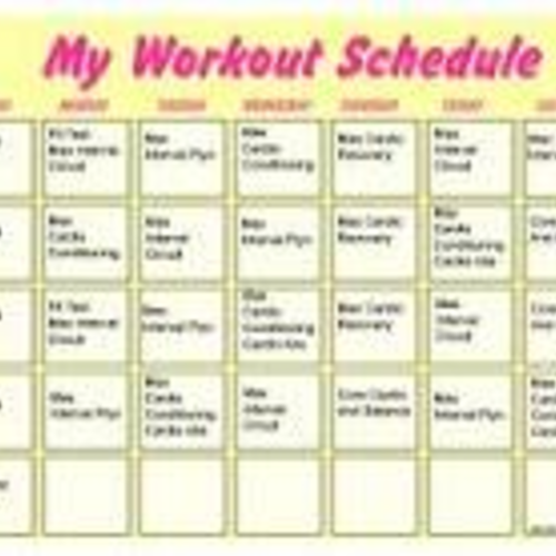 Customized Monthly Workout Programs