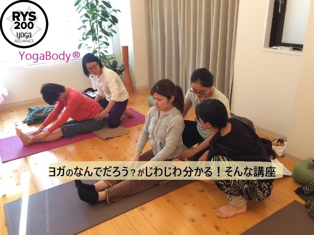 【修了証発行】ヨガボディ「体のしくみを知る3日間集中講座」7/15(日)start