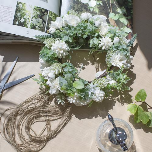 【1月】ソラフラワーで作る花かんむりリース