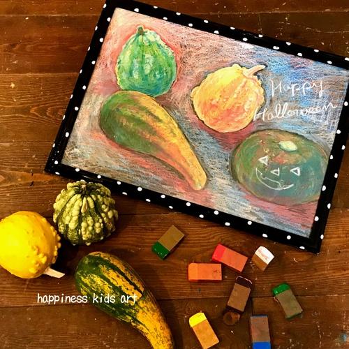 10/27(Sat)★不思議なクレヨンアートでごしごしかぼちゃを描こう!