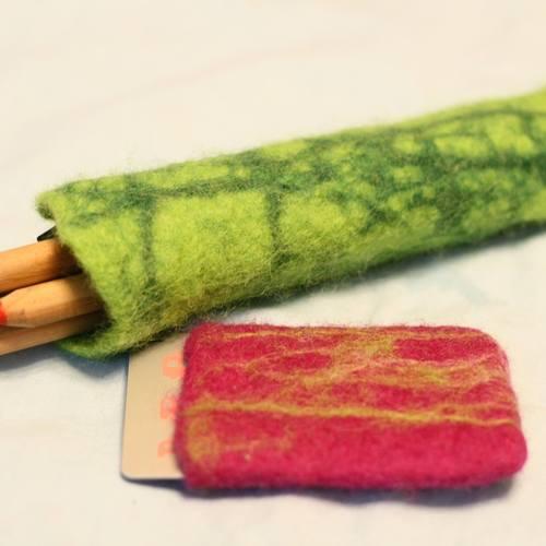 色とりどりのハンドメイドの会〜夏休み企画〜「羊毛でポーチを作ろう」