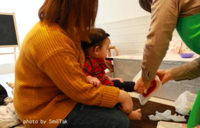 【写真撮影付き】手形足型アート作り