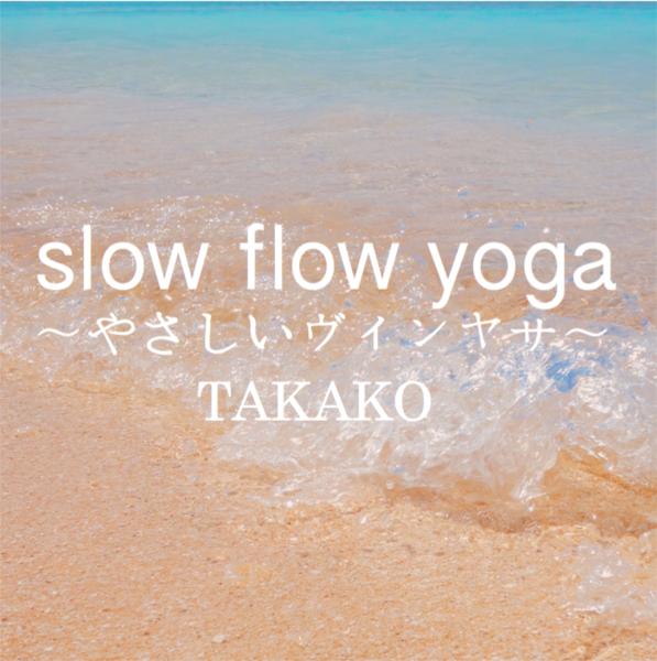 Slow flow yoga(やさしいヴィンヤサ)/講師:takako【運動量★★★☆☆】