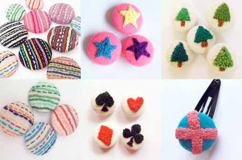 ●1月19日(火)Nancy Scarletの『刺繍くるみボタン』