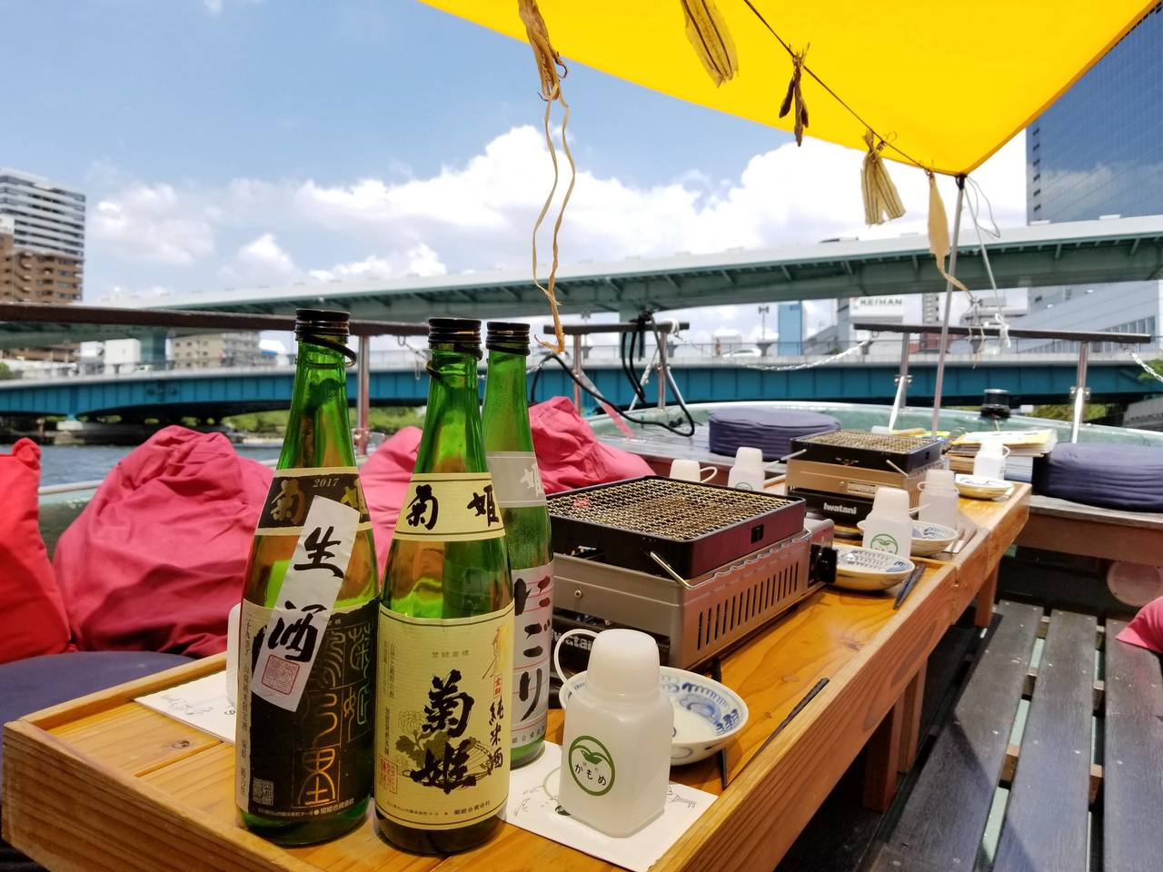 きき酒(淀川・枚方)Tasting SAKE on YODOGAWA River