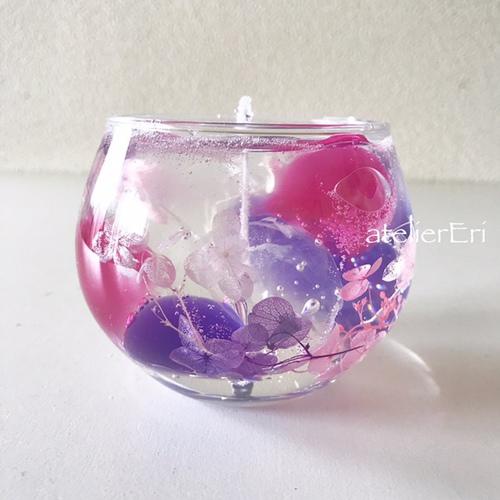 紫陽花のジェルキャンドルレッスン