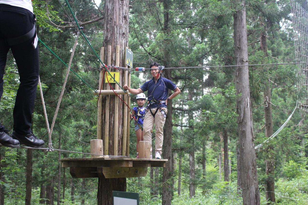 Tree Top Adventure アドベンチャーコース・ディスカバリーコース (冒険の森 in いとしろ)