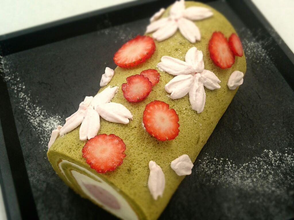 公開講座 アトリエクラス 桜のロールケーキ・桜のガレット
