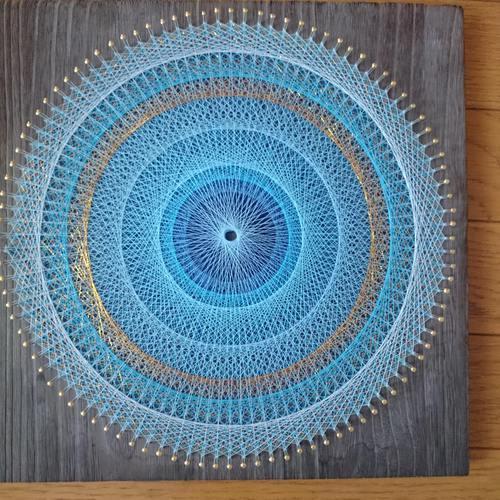 【函館】3次元を織りなす糸掛け曼荼羅アート~集中力と潜在意識を高めている間に素敵な作品が出来上がる!!