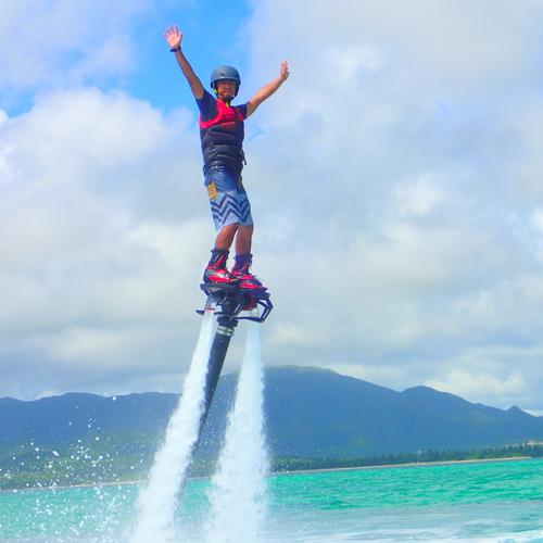 【半日/AMまたはPM】石垣島の空を飛ぼう!フライボード&シュノーケル(コース⑤)