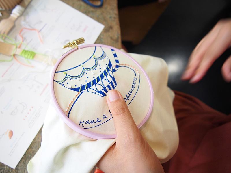 【「刺繍CAFE」 at trois 4/23(日)】