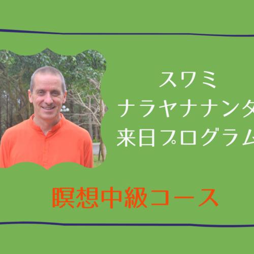瞑想中級コース・スワミナラヤナナンダ来日特別プログラム