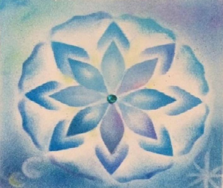 新月満月のパステル曼荼羅会・筆文字アートワーク